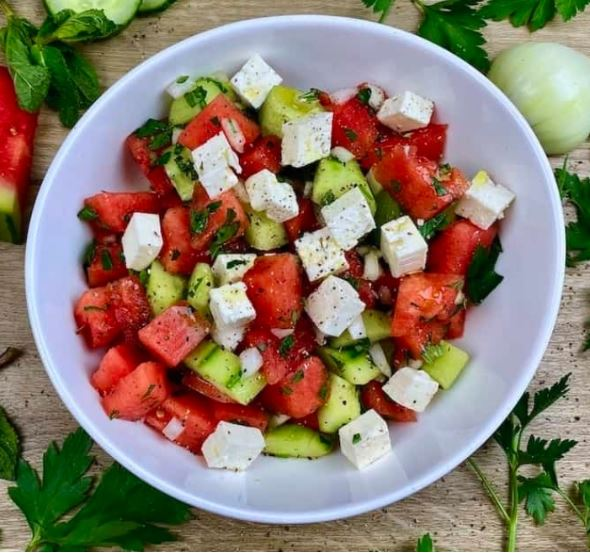 Rezept: Wassermelonen-Salat